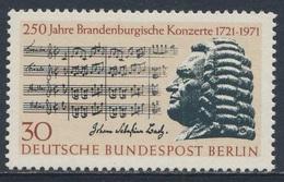 Germany Berlin 1971 Mi 392 YT 368 Sc 9N312 ** Bach + Part 2nd Brandenburg Concerto / Brandenburgischen Konzerts - Muziek