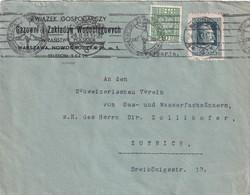 POLOGNE 1933 LETTRE DE VARSOVIE - 1919-1939 Republic