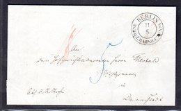 AD. Berlinstempel KBHW 18b Auf Preussen-Brief - Preussen