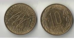 CAMEROUN  10 FRANCS 1967 - Cameroon