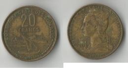 SOMALIE 20 FRANCS 1971 - Somalie