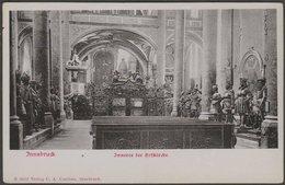 Inneres Der Hofkirche, Innsbruck, Tirol, C.1905 - Czichna U/B AK - Innsbruck