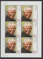 Togo 2018 Mi. ? M/S Joint Issue PAN African Postal Union Nelson Mandela Madiba 100 Years - Togo (1960-...)