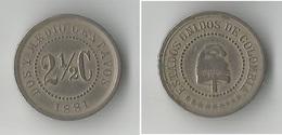 COLOMBIE 2.5 CENT 1881 - Colombie