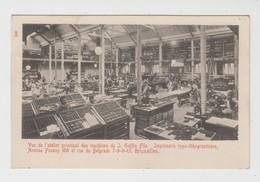 Saint-Gilles  Bruxelles  Imprimerie Typo-lithographique - J. Goffin Fils - Vue De L'atelier Principal Des Machines - St-Gillis - St-Gilles