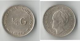 CURACAO 1/4 GULDEN 1947 ARGENT - Curacao