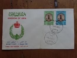 REGNO DI LIBIA - F.D.C. Giornata Delle Armi 9/8/61 + Spese Postali - Libia
