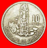 # MAYAN SCULPTURE (1974-1975): GUATEMALA ★ 10 CENTAVOS 1975! LOW START ★ NO RESERVE! - Guatemala