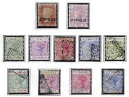 CYPRUS, Classics, Yv 2/3, 16/20, 24/27, */o M/U, F/VF, Cat. € 63 - Cyprus (...-1960)