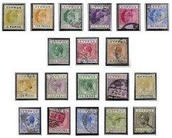CYPRUS, Classics, Yv 44/49, 57, 59, 64, 67, 69/70, 72/78, */o M/U, F/VF, Cat. € 108 - Cyprus (...-1960)