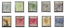 CYPRUS, Classics, Yv 84, 86/94, */o M/U, F/VF, Cat. € 16 - Cyprus (...-1960)