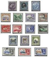 CYPRUS, Definitives, Yv 109/09, 116/26, */o M/U, F/VF, Cat. € 154 - Cyprus (...-1960)