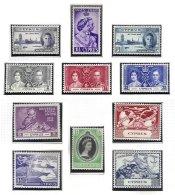 CYPRUS, Commemoratives, Yv 131/33, 147/49, 151/55, */** MLH/MNH, F/VF, Cat. € 16 - Cyprus (...-1960)