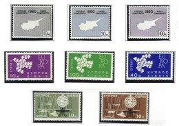 CYPRUS, Commemoratives, Yv 186/93, ** MNH, F/VF, Cat. € 10 - Cyprus (...-1960)