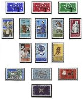 CYPRUS, Commemoratives, Yv 207/17, 229/31, 233, ** MNH, F/VF, Cat. € 55 - Cyprus (...-1960)