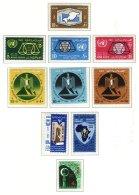 EGYPT, Commemoratives, Yv 573/77, 593/96, 598, ** MNH, F/VF, Cat. € 16 - Égypte