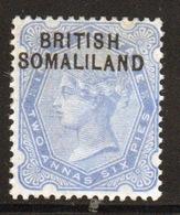 Somaliland Protectorate 1903 Queen Victoria 2.6  Anna Blue Stamp. - Somaliland (Protectorate ...-1959)