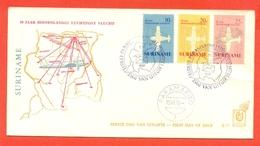 AVIAZIONE  AEREI  -SURINAME -PARAMARIBO- 40° JAAR BINNENLANDSE LUCHTPOST VLUCHT -  MARCOFILIA - Suriname