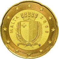 Malte, 20 Euro Cent, 2008, SPL, Laiton, KM:129 - Malta