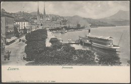 Promenade, Luzern, 1904 - Künzli U/B AK - LU Lucerne