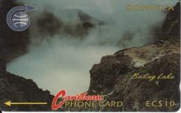 DOMINICA(GPT) - Boiling Lake, CN : 4CDMA(silver Strip), Tirage %37227, Used - Dominica