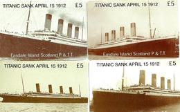 UNITED KINGDOM No1 SET OF 4 TITANIC SHIP SHIPS COMMEMORATIVE LIMITED EDITION ISSUE OF 1200 SCARCE READ DESCRIPTION !! - Royaume-Uni