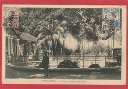 CPA: Cambodge - Pnom-Penh - Coin Du Jardin De La Ville (Editeur Nadal) - Cambodia