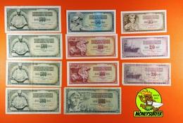 Yugoslavia 11PCS 10-20-50-100-500-1000 Dinar 1968-86 Very Nice FREE POST - Yugoslavia