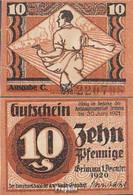 Grimma Notgeld Der Stadt Grimma Bankfrisch 1920 10 Pfennig Grimma - [ 3] 1918-1933 : République De Weimar