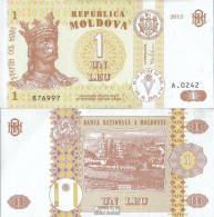 Moldawien Pick-Nr: 8i Bankfrisch 2013 1 Leu - Moldawien (Moldau)