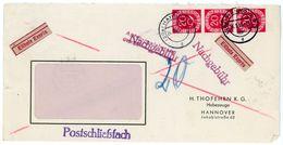 Nr. 130 Dreierstreifen Eilbotenbrief Mit Nachgebühr - Ortsbrief - Briefe U. Dokumente