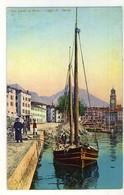 RIVA DEL GARDA NEL PORTO DI RIVA - BARCA - Trento