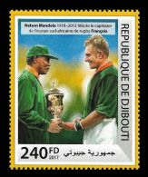 Djibouti 2017 Rugby Trobhy By Nelson Mandela Nobel Peace Prize Stamp Yvert:1743 - Non Classificati