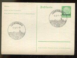 D.Bes.39/45-Luxemburg / 1941 / Postkarte Mi. P 1, SSt. (15304) - Besetzungen 1938-45