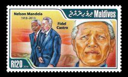 Maldives Fidel Castro Nelson Mandela Nobel Peace Prize 1v Stamp MNH Michel:5080 - Non Classificati