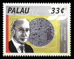 Palau Jonas Salk Polio Vaccine Discoverer Jews Jewish 1v Stamp MNH - Non Classificati