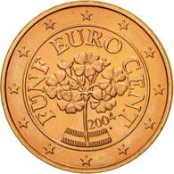 Autriche, 5 Euro Cent, 2004, SUP+, Copper Plated Steel, KM:3084 - Autriche