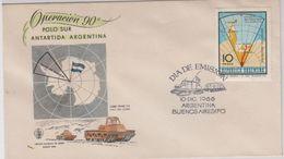 Argentina 1966 Operation Polo Sur / Antarctica / Map 1v FDC (40081) - Argentinië