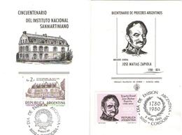 Argentina FDC Istituto Sanmartiniano E Generale Jose Matias Zapiola - FDC