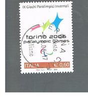 ITALIA REPUBBLICA  -   2006    OLIMPIADI INVERNALI    -   USATO  ° - 6. 1946-.. Repubblica