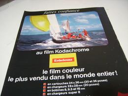 ANCIENNE PUBLICITE VOILE FILM KODACHROME DE KODAK    1966 - Photography