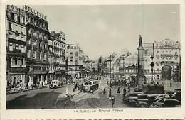- Dpts Div.-ref-AB869- Nord - Lille - La Grand Place - Hotel De Strasbourg - Cafe - Felix Potin - Publicites - Tramways - Lille