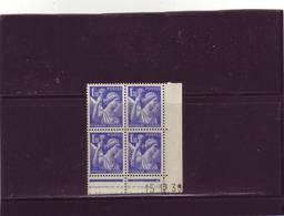 N° 434 - 1,30F IRIS - B De A+B - 1° Tirage Du 15.12.39 Au 22.12.39 - 1° Jour Du Tirage - 1930-1939