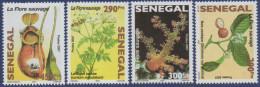 Sénégal 2008 Flore Sauvage Wilde Flora Wild Blumen Flowers Fleurs 4 Val. RARE MNH - Senegal (1960-...)