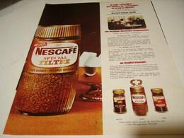 ANCIENNE PUBLICITE NESCAFE SPECIAL FILTRE 1966 - Posters