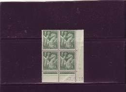 N° 432 - 1,00F IRIS - B De A+B - 1° Tirage/1° Partie Du 8.5.39 Au 21.7.39 - 7.7.1939 - - Esquina Con Fecha