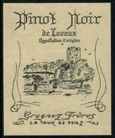 Etiquette De Vin // Pinot Noir De Lavaux, Vaud, Suisse - Etiquettes