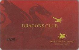 MALTA KEY CASINO     Dragonara Casino   -  Saint Julian's - Casino Cards
