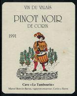 Etiquette De Vin // Pinot Noir De Corin, Musique Valais, Suisse - Music