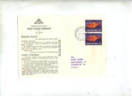 Carte Cachet Sur Poisson - San Marino
